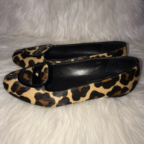 8a1c858bf6c0 Vaneli | Cow Hair Leopard Print Flats 7.5. M_5c37ab85aa5719f88ad28365
